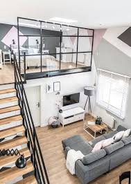 Small Apartment Design Ideas Interesting Un Loft Industriel Et Sa Verrière Sur La Mezzanine