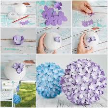 Homemade Paper Flower Decorations Creative Ideas Diy Paper Flower Kissing Ball For Wedding