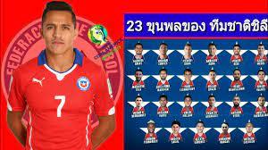 23 ขุนพลของ ทีมชาติชิลี ( แชมป์เก่า ) ชุดลุยศืก โคปาอเมริกา 2019 | Alexis  นำทัพ