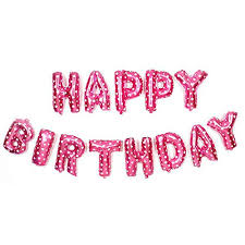 Uheng Happy Birthday Balloons Hanging Alphabet Happy Birthday Banner Foil Letters Balloons 3d Lettering Mylar Balloons For Kids Adults Party