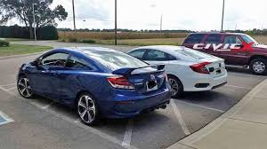 honda civic 2016 coupe. outgoing civic coupe photo comparison 2016 honda sedan vs