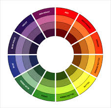 80 Interpretive Colour Wheel Tertiary Colours Template