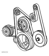 Show diagram serpentine belt has a c thumb