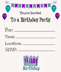 Online Printable Birthday Party Invitations New Free Online Printable Birthday Party Invitations