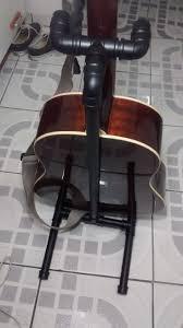 diy how to make a pvc acoustic guitar stand suporte de pvc para violão