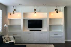 built in entertainment center white incredible centeredia consoles home ideas 3 drywall