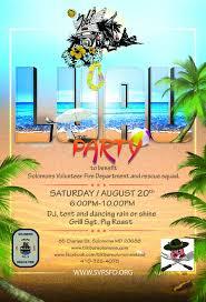 Luau Flyer 3rd Annual Tiki Luau Dj Rick Watson Tiki Bar Solomons
