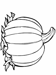 Pumpkin Pattern Template Coloring Page Autum