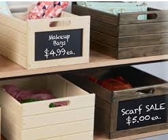 wooden storage crates bin vegetable potato craft nesting box oak chalkboard erasable front sign label set