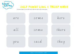 Page 16 for example, that red ends with a d sound. Jolly Phonics Tricky Words Group 2 Printable Flashcards Travel Karma