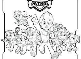 Printable Paw Patrol Coloring Pages Christmas Everest Tracker Sheets