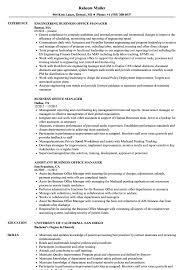 Sample Office Manager Resumes Business Office Manager Resume Samples Velvet Jobs
