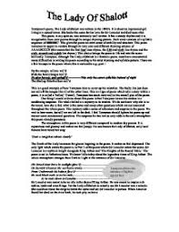 how to write an essay introduction for lady of shalott essay the lady of shalott essay essay bookrags com