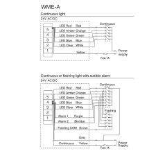 stack light wall mounted led call light wall mounting patlite wme a wiring diagram