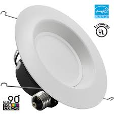 led recessed light torchstar wet location 5 per 6 inch dimmable retrofit led recessed lighting fixture