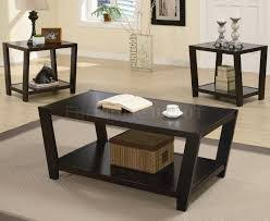 ... Coffee Table, Terrific Blackish Rectangle Traditional Wood Contemporary  Coffee Table Sets Stained Design: Elegant ...
