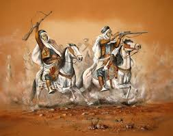 arab fantasia sand painting 80x100 cm