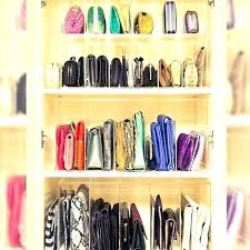 organize purses ideas for organizing in closet small space how to purse organizer shelf cl
