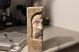 Wood Carving Dremel Carving A Middle Aged Woodspirit With Dremel Rotary Tool