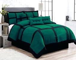 suede comforter sets 7 piece patchwork green black micro suede comforter set king size faux suede