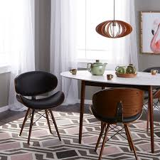 corvus madonna mid century walnut and black finish accent chair on today overstock 20882543