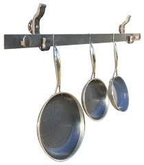 rail anchor pot and pan rack wall