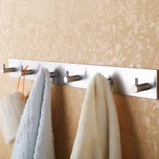 Towel Hook Bathroom Bathroom Self Adhesive Coat And Robe Hook Rack Rail With 6 Hooks