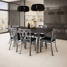 dining table set 8 chairs. amisco washington metal chair and drift extendable table dining set (4, 6 or 8 chairs i