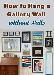 to hang a gallery wall without nails