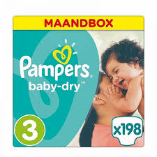 maandbox pampers maat 6