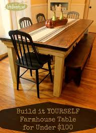Kitchen Table Farmhouse Style Art Is Beauty How To Build Your Own Farmhouse Table For Under 100