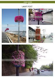 Good Quality Innovative Half Round Lamp Post Plastic Flower Planter Buy Lamp Post Planterplastic Lamp Post Planterhalf Round Lamp Planter Product