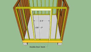 Building Shed Door Plan Extraordinary House Mig How To Build Wood ...