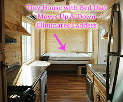Small Picture Tiny House with No Need for Loft or Ladder bed is on a motorized