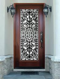 clear security door wood door with glass insert