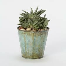 vintage ridges pot planter pots