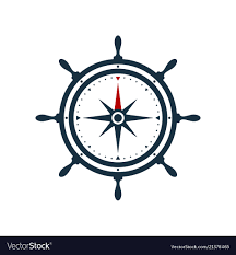 compass design ship wheel compass rose design royalty free vector image