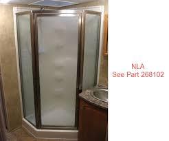 shower door 14 x 24 x 64 satin rpls