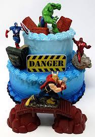 Amazoncom Avengers Deluxe Super Hero Birthday Cake Topper Set