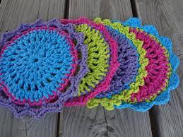 Round Crochet Dishcloth Pattern