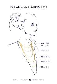 Necklace Length Chart Ring Size Chart Emma Krafft Jewellery