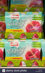 Muller Light Yogurt Tesco Muller Yoghurt Stock Photos Muller Yoghurt Stock Images