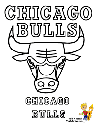Chicago Bulls Coloring Page Art Coloring