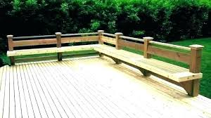 deck bench designs built in deck bench build with back storage benches plans decks l shapes