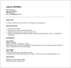 brief resume sample