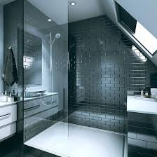 wall boards for bathroom shower bathroom clad with tile wall panel range brick bevelled black acrylic