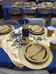 Blue And Gold Baby Shower Decorations Creative Creations By Adrienne The Royal Drink Station Aprils