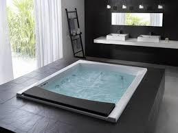 Bathroom:Big Modern Jacuzzi Black White Modern Bathroom Design With Big  Black Ceramic Jacuzzi And