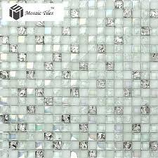 tst crystal glass mosaic tile aqua white iridescent silver diamond waterdrops inner le design