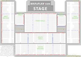 Brighton Centre Detailed Seat Row Numbers Concert Chart